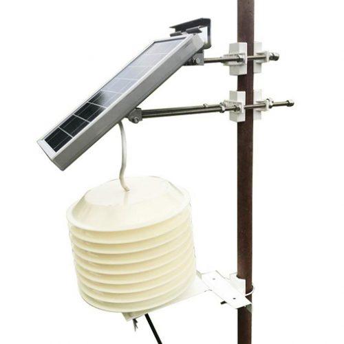 屋外用PM2.5・ノイズ・温度・湿度センサー 太陽光パネル付 R72623の画像