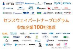 「センスウェイパートナープログラム参加企業が100社を達成」のアイキャッチ画像